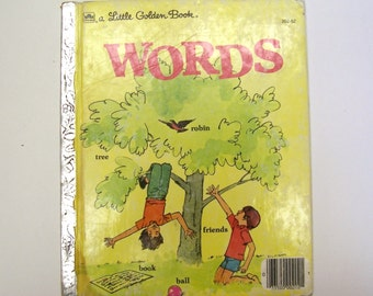 A Little Golden Book about Words - Children's Book, Vocabulary Words, Easy Reader