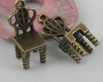 10pcs antiqued bronze color chair pendant EF0536