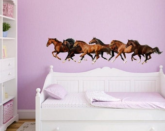 Wall sticker - Herd of horses (3371f)