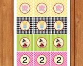 Alice in Wonderland Kids Cupcake Toppers-KBI244CT Editable Printable Digital File with Instant Download