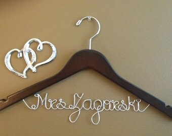Bridal Hanger one Line, Personalized Custom Bridal Hanger, Brides Hanger, Bride, Name Hanger, Wedding Hanger, Personalized Bridal Gift
