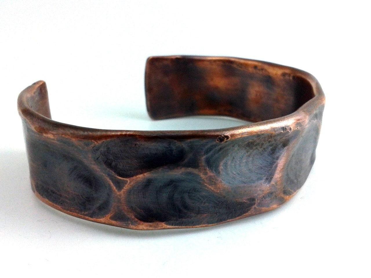 men 39 s rustic tribal copper bracelet cuff by hammerheaddesigns. Black Bedroom Furniture Sets. Home Design Ideas