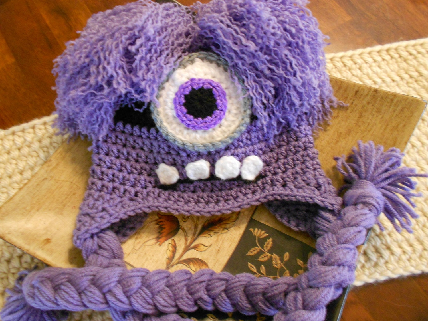 Free Crochet Pattern Purple Minion Hat ~ manet for .