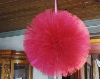 Tulle Pom 20 Inch Hand Sewn and Woven Wedding Barns and Large Places