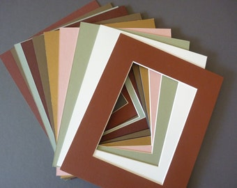 picture mats 8 x 10  assorted autumn colors package of 9 photo art craft