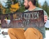 Chicken Coop Sign, Chicken Sign, Chicken Coop Decor, Personalized Chicken Coop Sign, Barn Sign