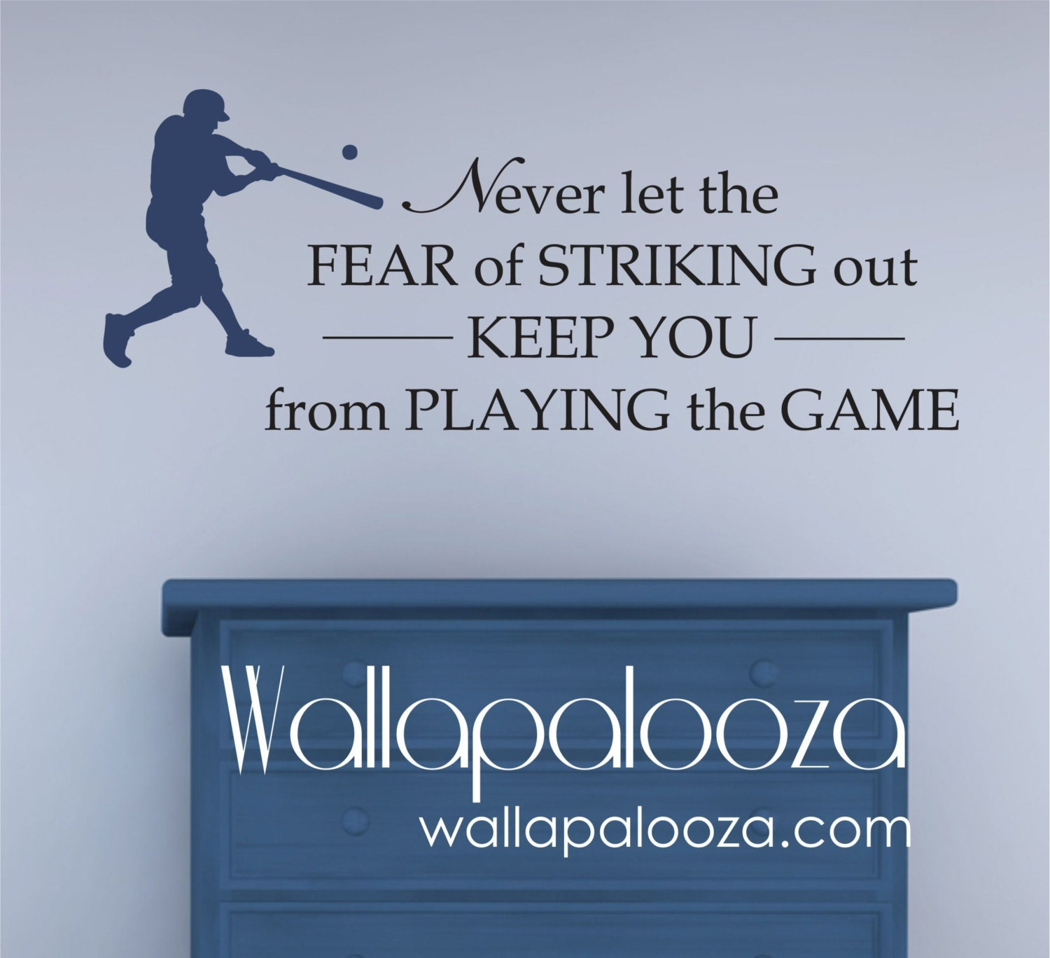 Baseball wall decor roselawnlutheran vintage baseball scoreboard wall dcor baseball wall decal never let the fear of striking out wall decal kids room amipublicfo Choice Image