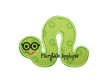 Digital Machine Embroidery Design -  Inch Worm Applique
