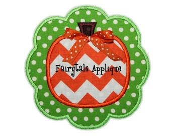 Digital Machine Embroidery Design - Frilly Pumpkin Patch Applique
