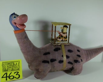 1960's Marx Fred on Dino Flintstones toy