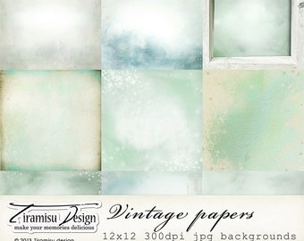 Scrapbook Papers and Digital Paper Pack 26 -Vintage Christmas