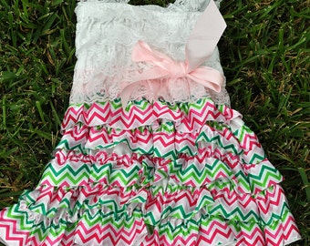Spring Chevron Dress