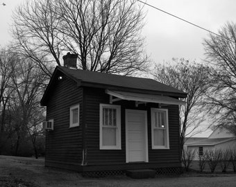 Little House in Rossville, Landscape Photography, Fine Art Photography, Historical Photograph, Black and White
