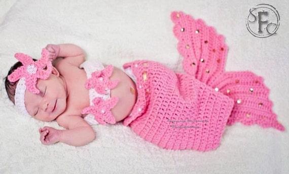 Cutest Original  Baby Mermaid Prop Sets made to order
