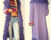 90s Maxi Sweater Knit Cardigan Duster Jacket Coat