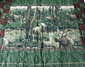 ON SALE! Spring Moose King Quilt
