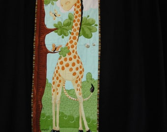 Giraffe Quilted Growth Chart