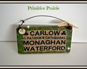 Irish pride, Irish wooden sign 100% handmade by me