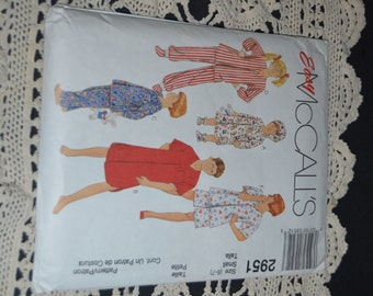 McCalls 2951 CHildrens, Boys and Girls Sleepwear Sewing Pattern - UNCUT - Sizes 6-7