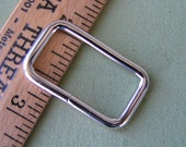 """Four, 1"""" Metal Rectangle, Ideal and Sturdy for totes, purses, pet martingales, belts."""