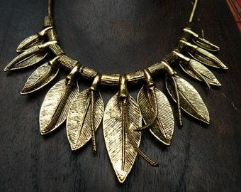Leaves of Gold Necklace