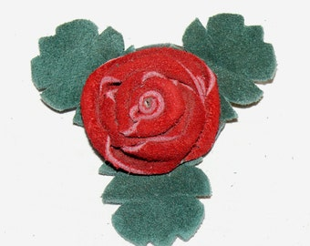 Red Button Rose Pin