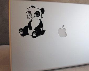 Cute Panda Single Color Decal