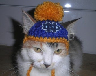 Crocheted Notre Dame Dog or Cat Hats