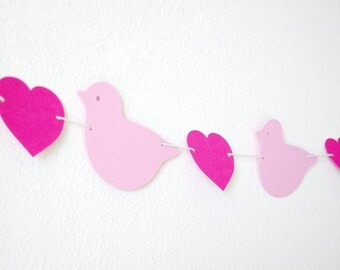 Love birds Paper Garland 5 ft.