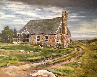 Stone Cottage at Star Island, New Hampshire