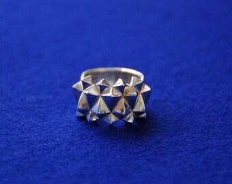 3D print silver statement ring Studs