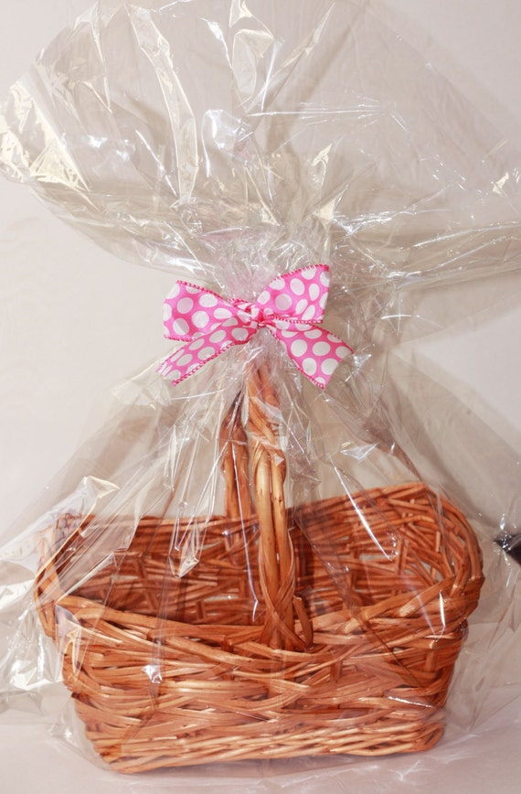 Easter basket wrappings crafthubs clear plastic cellophane basket gift wrap bag by negle Choice Image