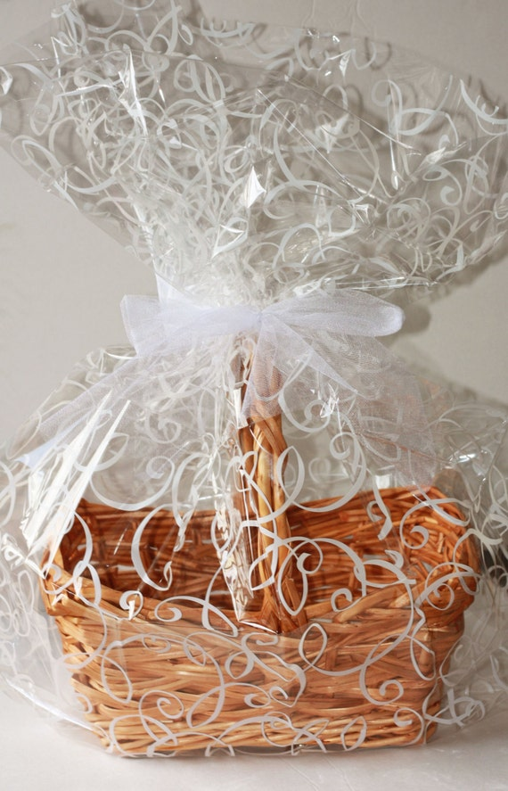 How To Wrap A Wedding Gift Basket : Basket Gift Wrap bag, Easter Gift Baskets, Wedding Cello Gift Basket ...
