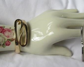 Wonderful Chunky Bangle Bracelet Gold Infinity Swirl Bracelet Vintage Classic Gold Bangle Bracelet