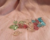 20 pc assorted colors of leaf bead / charms