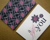 Navy & Pink Pattern Gift Tags