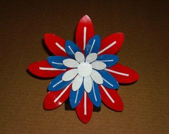 SALE-LAST ONE-Patriot Steel Flower Sculpture- Made in U.S.A.