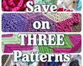 Choose any 3 crochet patterns valued at 3.75 for only 9.25USD ! - Added value sale - indicate pattern in note to seller - speedy response