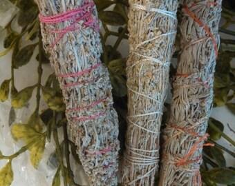 Sage, Rosemary and Sweetgrass, Smudge Stick, Ritual, Sacred, Altar, Pagan