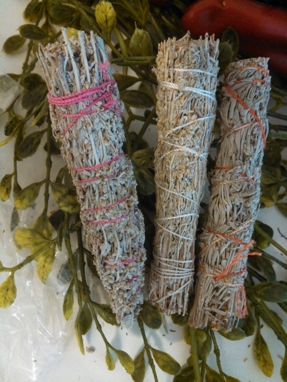 Sage Rosemary And Sweetgrass Smudge Stick Ritual Sacred