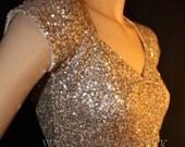 GOLD SEQUIN CROP sequin top, bellydance , belly dance, casual, cover up, bolero