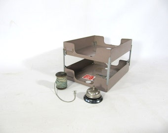 Industrial Metal File Holder, Desk Top, Metal Organizer