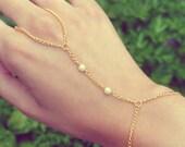 "The ""Ella"" Hand Chain / Slave Bracelet / Ring Bracelet"