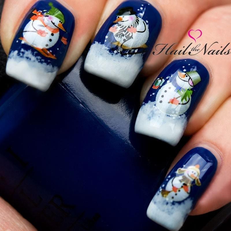 Xmas Nail Transfers: Christmas Nail Wraps Water Transfers Decal Nail Art Y135