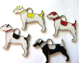 Set of 4 mixed color SPORT DOG Charm Pendants (a-23)