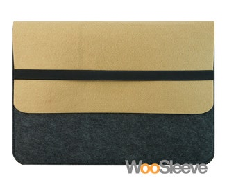 "15"" inch Apple Macbook Pro with Retina Display Sleeve Case Cover Laptop Sleeve Case Cover --Brown & Dim Grey"
