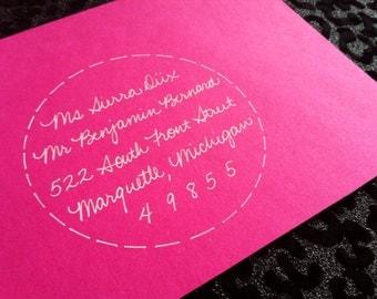 ENCIRCLED JUDITH : Custom Wedding Calligraphy Envelope Addressing