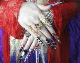 VAMPIRE Gothic Twilight Volturi Kawaii Gyaru Lolita Nails