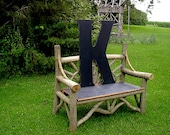 """Rustic Wooden Letters K 36"""" Extra Large Wedding Guest book Letters Gift Kids Wall Art Home Decor Monogram"""