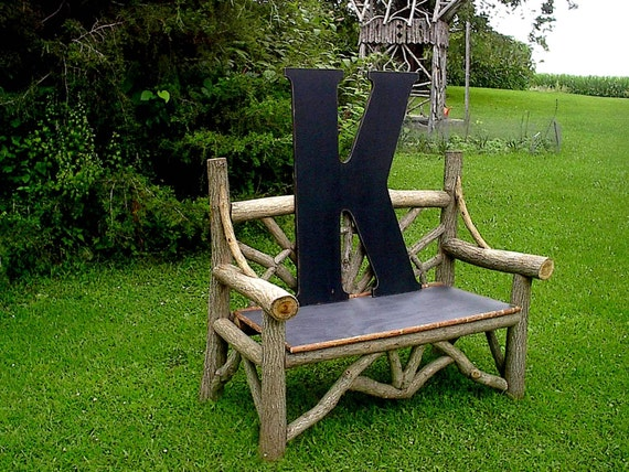 Rustic wooden letter k 36 extra large wedding by lettersofwood for Large wooden letter k